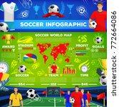soccer sport game infographic.... | Shutterstock .eps vector #772664086