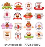 fast food restaurant and cafe... | Shutterstock .eps vector #772664092
