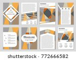 abstract vector layout... | Shutterstock .eps vector #772666582
