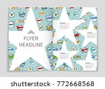 abstract vector layout... | Shutterstock .eps vector #772668568
