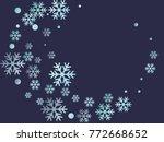 snowflake macro vector... | Shutterstock .eps vector #772668652