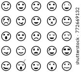 emotion icon set | Shutterstock .eps vector #772669132
