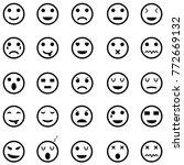 emotion icon set | Shutterstock .eps vector #772669132