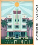 sunny day in miami  usa.... | Shutterstock .eps vector #772676935