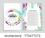 abstract vector layout... | Shutterstock .eps vector #772677172