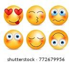 set of emoji. smileys vector... | Shutterstock .eps vector #772679956