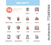 business concept  security  ... | Shutterstock .eps vector #772683466