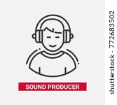 sound producer   line design... | Shutterstock .eps vector #772683502