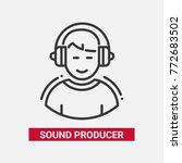 sound producer   line design... | Shutterstock .eps vector #772683502
