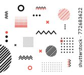abstract geometric hipster... | Shutterstock .eps vector #772683622