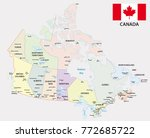 canada administrative and... | Shutterstock .eps vector #772685722