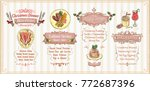 christmas menu list design ... | Shutterstock .eps vector #772687396