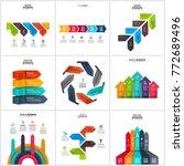 vector arrows infographics... | Shutterstock .eps vector #772689496