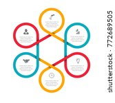 business data visualization.... | Shutterstock .eps vector #772689505