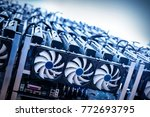 big it machine with fans....   Shutterstock . vector #772693795