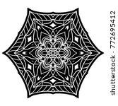 flower mandala.  ornament for... | Shutterstock . vector #772695412