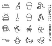 thin line icon set   iron ... | Shutterstock .eps vector #772695712
