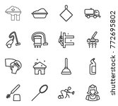 thin line icon set   factory... | Shutterstock .eps vector #772695802
