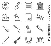 thin line icon set   dollar... | Shutterstock .eps vector #772696096