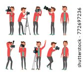 professional photographer... | Shutterstock .eps vector #772697236
