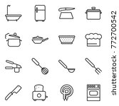 thin line icon set   bath ... | Shutterstock .eps vector #772700542