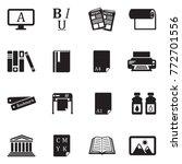 publishing icons. black flat... | Shutterstock .eps vector #772701556