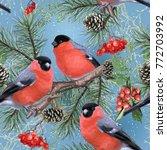 winter holiday seamless pattern ... | Shutterstock .eps vector #772703992