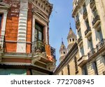 view of old town buildings in... | Shutterstock . vector #772708945