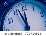 old vintage alarm clock is... | Shutterstock . vector #772714516