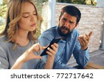 business partners  negotiations ... | Shutterstock . vector #772717642