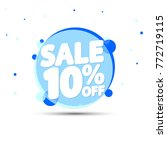 sale tag  10  off  banner... | Shutterstock .eps vector #772719115