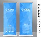 roll up business brochure flyer ...   Shutterstock .eps vector #772722892