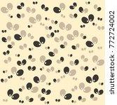 halloween vector pattern with... | Shutterstock .eps vector #772724002