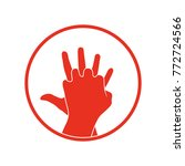 cpr icon. vector clipart image... | Shutterstock .eps vector #772724566
