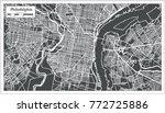 philadelphia pennsylvania usa... | Shutterstock .eps vector #772725886