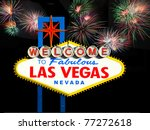 famous las vegas welcome sign... | Shutterstock . vector #77272618
