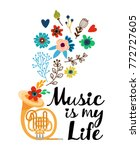 """poster """"music is my life"""" 