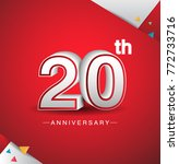 20th anniversary design with... | Shutterstock .eps vector #772733716