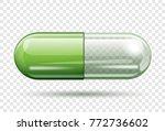 transparent capsule pill... | Shutterstock .eps vector #772736602