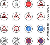 line vector icon set   road...   Shutterstock .eps vector #772740475