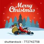 vector design for  christmas... | Shutterstock .eps vector #772742758