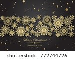 vector merry christmas and... | Shutterstock .eps vector #772744726