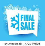 snowflake with a text final... | Shutterstock .eps vector #772749505