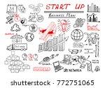 business doodle sketch hand... | Shutterstock .eps vector #772751065