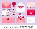 collection of different... | Shutterstock .eps vector #772752238