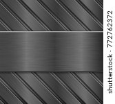 metal background. dark steel... | Shutterstock .eps vector #772762372