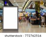 blank billboard posters in the... | Shutterstock . vector #772762516