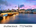 panoramic view of historic... | Shutterstock . vector #772766086