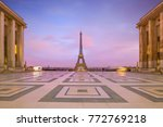 Eiffel Tower At Sunrise From...