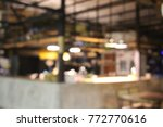 the blur background of light in ... | Shutterstock . vector #772770616